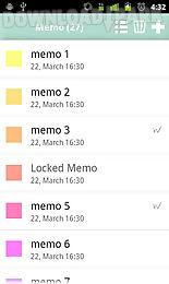 pastel note memo widget free