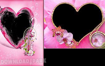 Pink heart frames