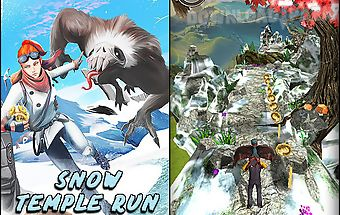 Snow temple run