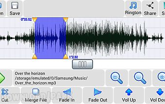 Sound editor (mp3 to ringtone)