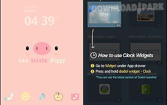 Little piggy pink dodol theme