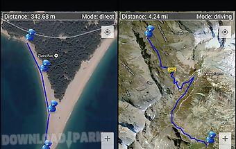Map distance meter