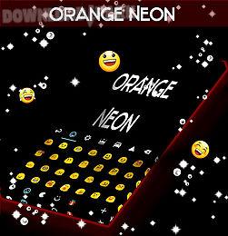 orange neon go keyboard