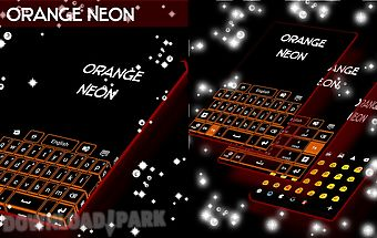 Orange neon go keyboard