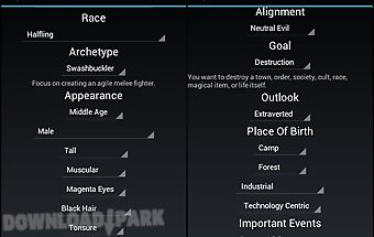 Story plot generator Android App free download in Apk