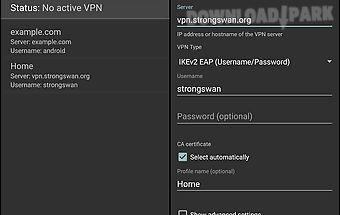 Strongswan vpn client