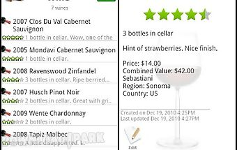 Wine - list, ratings & cellar