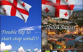 3d georgia flag live wallpaper