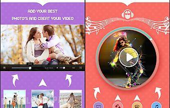 Photo to video movie slideshow