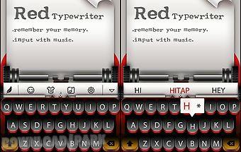 Red typewriter for keyboard