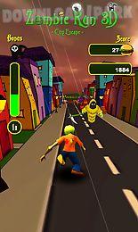 zombie run 3d - city escape