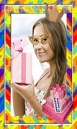 birthday photo frames diy