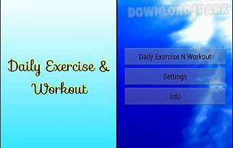 Daily exercise and workout