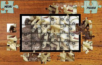 Jigsaw puzzles food world