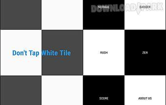 Dont tap white tile
