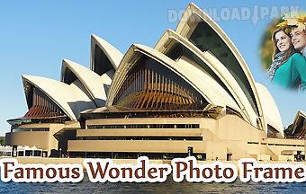 Famous wonder photo frame
