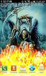 grim reaper color flames live wallpaper