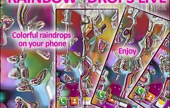 Rainbow drops live wallpaper fre..