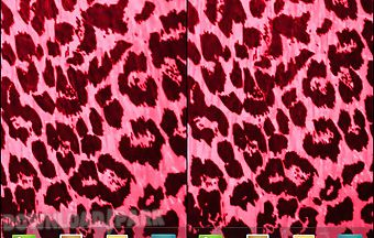 Hot pink leopard print live wall..