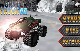 Monster truck snowfall