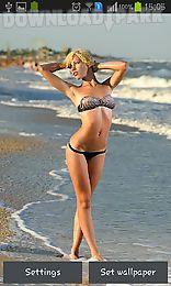 hottest girls: hot beach