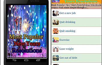 Most popular new years resolutio..