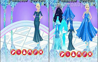 Princess frozen dress up games