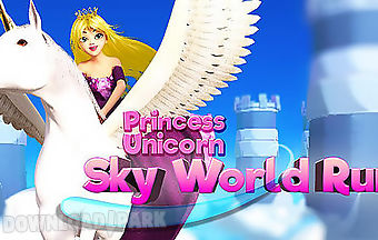 Princess unicorn: sky world run