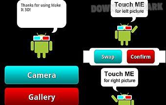 3d camera - make it 3d free
