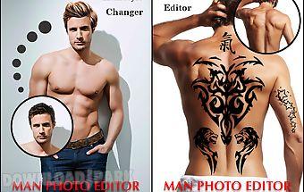 Man tattoo & hairstyle editor