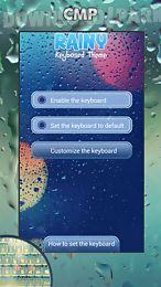 rainy keyboard theme