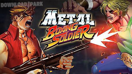 metal boxing soldier