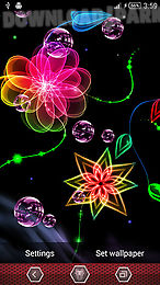neon flowers by next live wallpapers
