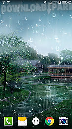 The Description Of Raindrop Live Wallpaperswith Raindrops On Screen Your Smartphone Or Tablet Pc Enjoy Beautiful Landscapes Without