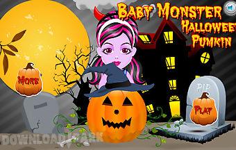 Baby monster halloween pumpkin d..