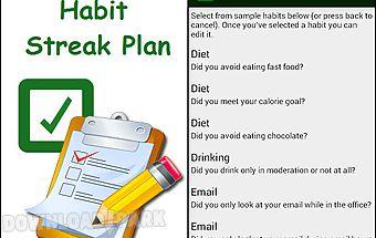 Habit streak plan
