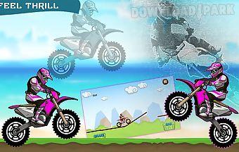 Speedy traffic moto race drift