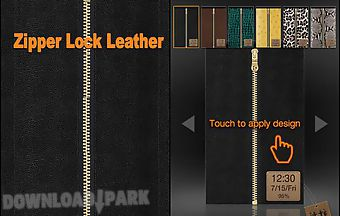 Zipper lock leather