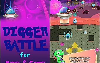 Digger: battle for mars and gems
