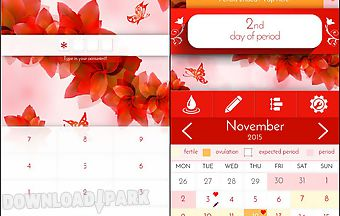 Period tracker woman diary p