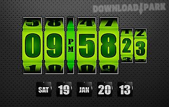 3d rolling clock widgets green