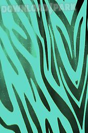 teal zebra print live wallpaper