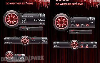 Cool go weather widget theme