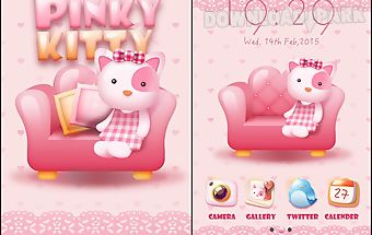 Pinky kitty go launcher theme