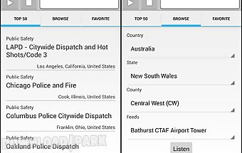 Police scanner free Android App free download in Apk