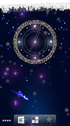 snowy night clock lwp trial
