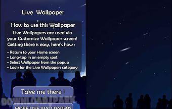 Falling stars 3d live wallpaper