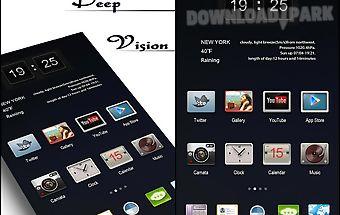 Deep vision go launcher theme