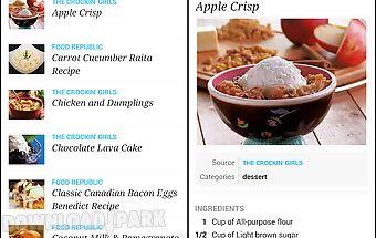 Recipe, menu & cooking planner
