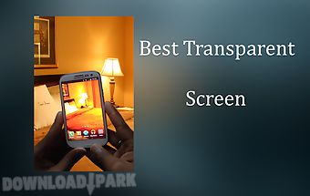 Transparent wallpaper camera